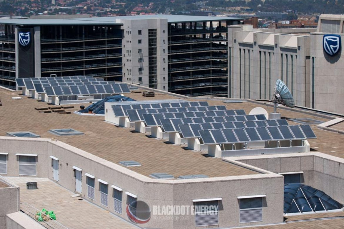 The completed solar array!