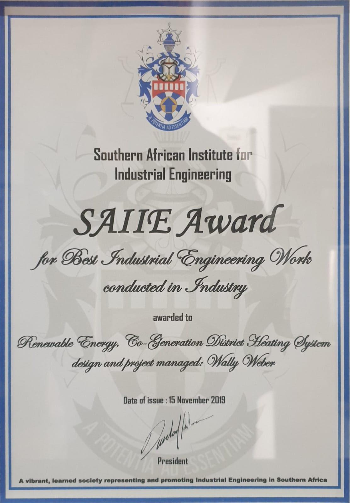 SAIIE Award